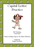 Capital Letter Practice Task Cards