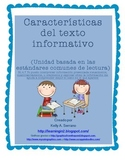Non Fiction Text Features in Spanish ( No Prep / Common Co