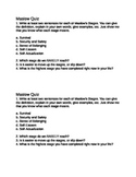 Career Exploration Maslow's Triangle Quiz