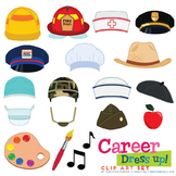 Career / Jobs Dress Up Clip Art Set