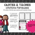 Cartes à tâche - citations