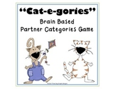 "Word Work Reading Game ""Cat-e-gories"" Brain Based"