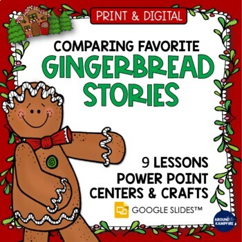 Gingerbread Man Activities (Multi Book Study, Printables and Crafts)