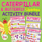 Caterpillar and Butterfly Math Bundle for Preschool and Ea