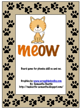 Cat's Meow Phonics ow