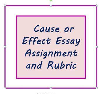 cause effect essay rubric college