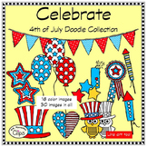 Celebrate! 4th of July Doodle Collection