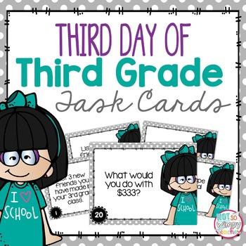 Third Day of Third Grade!
