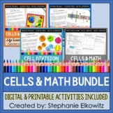 Cells Coloring, Science Literacy and Math BUNDLE