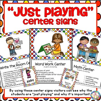 Center Signs ~ 'Just Playing'