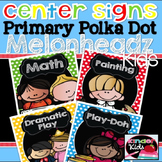 Center Signs {Primary Polka Dot Melonheadz Kids Edition} EDITABLE