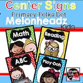 Center Signs {Primary Polka Dot Melonheadz Kids Edition} w
