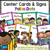 Center Signs and Cards - Programmable 2 in 1 set (Polka Dots)