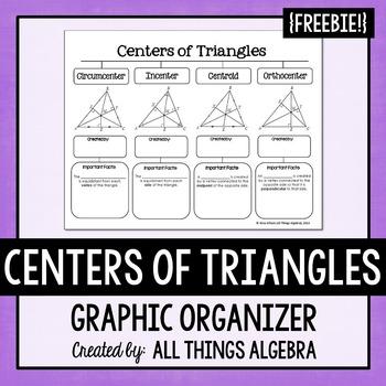 Centers of Triangles - Graphic Organizer FREEBIE!