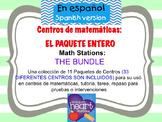 Math Stations: THE BUNDLE IN SPANISH Centros de matemática