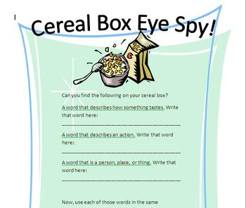 Cereal-Box-Eye-Spy-Game-Set-194717 Teaching Resources ...