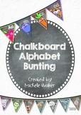 Chalkboard Alphabet Bunting