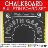 Chalkboard Bulletin Board - First Day of Fourth Grade