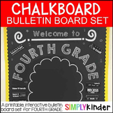 Chalkboard Bulletin Board - First Day of Fourth Grade