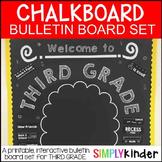 Chalkboard Bulletin Board - First Day of Third Grade