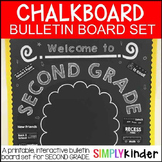 Chalkboard Bulletin Board - Welcome to Second Grade