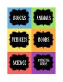 Chalkboard Classroom Labels