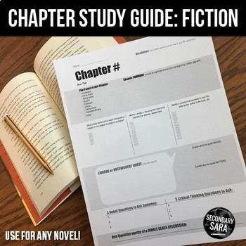 Chapter Study Guides: Student-Made, DURING Reading Activity for ANY Novel!