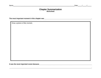 Chapter Summary Graphic OrganizerSummarize Graphic Organizer
