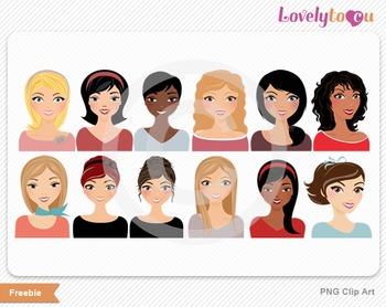 Character 12 pack sample bundle avatar portrait digital png clip art