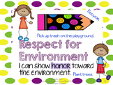 Character Education: Word of the Week Trait Posters
