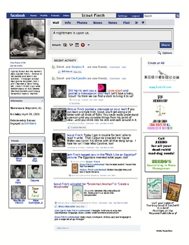 Character Facebook Activity To Kill a Mockingbird: Scout,