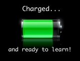 'Charged... and ready to learn!' Poster