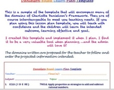 Charlotte Danielson Lesson Plan Template: A Sweet Design f