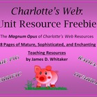 Charlotte's Web Novel Study Resources Graphic Organizers C