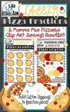 Cheezy Pizza Fractions & Pizza Toppings Clip Art Savings Bundle