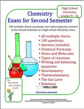 Chemistry Exam for Second Semester