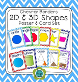 Chevron 2D and 3D Solid Shapes Poster Set (Math, Geometry)