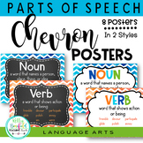 Chevron 8 Parts of Speech Anchor Charts