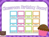 Chevron Birthday Bulletin Board Display