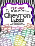 Labels Chevron Editable {2x4 Avery 5163}