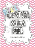 Chevron Mega Pack in Pastels {EDITABLE}