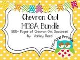 Chevron Owl MEGA BUNDLE {Decor & Classroom Mgmt}