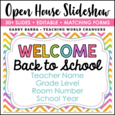 Rainbow Chevron Back to School Open House Powerpoint Template