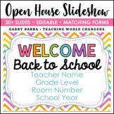 Rainbow Chevron Back to School Open House Powerpoint Template