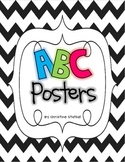 Chevron Themed ABC Posters