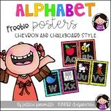 Chevron and Chalkboard Alphabet Cards