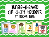 Chevron and Jungle Clip Chart Headers