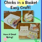 Free Easter and Spring Craft: Chicks in a Basket!