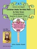 Children Make Terrible Pets - Comprehension Q & A Sticks & Craft