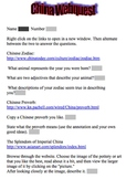 Chinese New Year Web quest